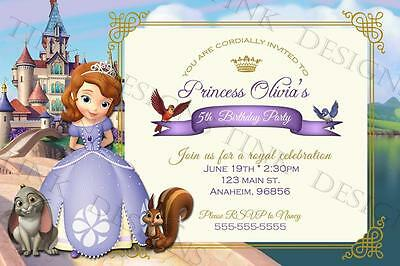 Princess Sofia birthday Invitations custom personalized Sophia The first