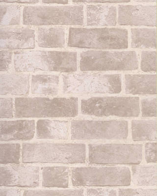 BRICK WALLPAPER Aged Off White Brick with Texture HE1045