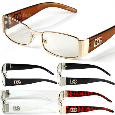 New Mens Womens DG Clear Lens Rectangular Eye Glasses Classic Fashion Nerd Greek