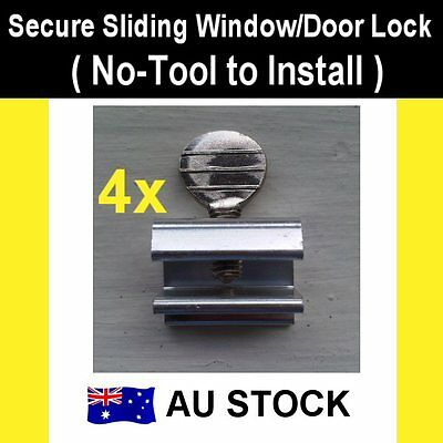 Baby Child Safe Safety Security Sliding Window Door Lock (No-Tool Install) 4pcs