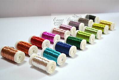 Oasis Metallic Colour Wire On A Reel - Floristry Or Crafts - Many Colours!