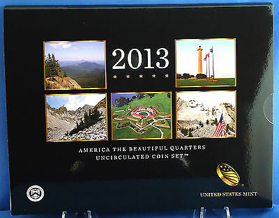 "2013 America the Beautiful Quarters Uncirculated Mint Set 10 Coins 5 ""D"" & 5 ""P"""