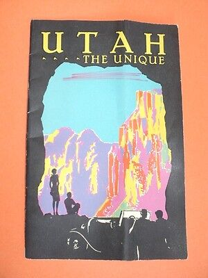 1930 UTAH The Unique Salt Lake City Scenic Travel Guide Booklet