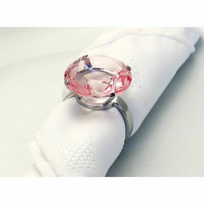 Pack Of 4 Pale Pink Round Acrylic Napkin Rings -Great Wedding Table Decoration!