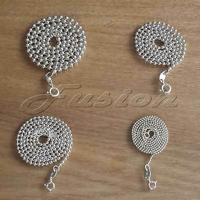 2MM 925 STERLING SILVER  BALL BEAD CHAIN NECKLACE ALL INCH SIZES PENDANT UK *