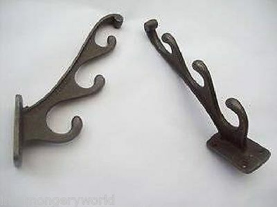 Heavy Triple Hat And & Coat Hook Cast Iron Antique Antler Style Utility Hanger