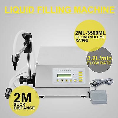 New Liquid Filling Machine Self Prime Pump Water Filling Bottling Semi Automatic
