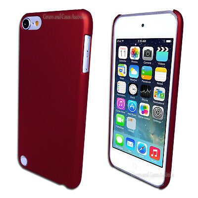 Red Rubberised Hard Case for Apple iPod Touch 5 5th GEN 5G Plastic Cover