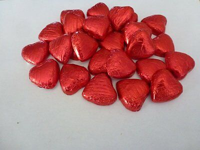 Red Foil Chocolate Love Hearts Wedding Favours Wrapped
