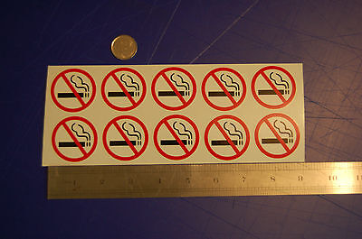 10 NO SMOKING vinyl decal home auto car window sticker outdoor safety