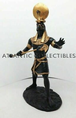 Ancient Egyptian Decorative Sun God Ra Figurine Falcon Head Statue Creator Deity