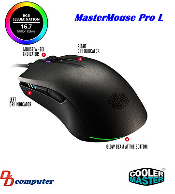 Mastermouse Pro L Ambidextrous Gaming Mouse With Personalized Grip