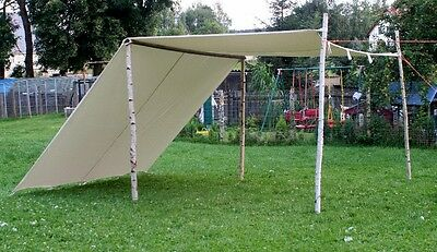 10ft x 10ft tarp pre medival canvas tent for Living history Reenactment knight