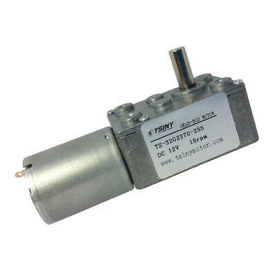 12V 15rpm Turbo worm Geared Motor 370 Reversible Right Angle Diameter 1/4 in