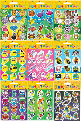 6 Sticker Sheets - Choose From 11 Designs - Party Bag Filler Pinata Toy