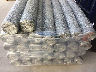Chicken Coop Wire Mesh Netting - Galvanised 50m roll x 1800mm x 50mm hex x 1mm