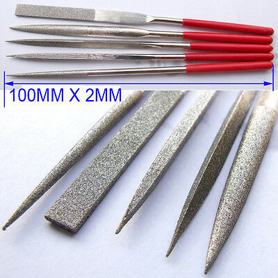 1 Set 100mm X 2MM DIAMOND FILES What Kam rasp for Glass Tile Chisel Sharp