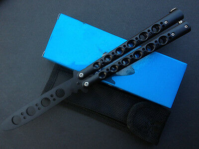 Metal Black Ring Practice Balisong Butterfly Knife Trainer Tool cool sports 161