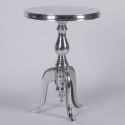 Aluminium Metal Round Side Occasional Table / Wine Table * ON SALE *