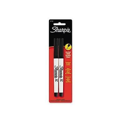 Sharpie Ultra Fine Point Permanent Markers, 2 Black Markers,37161PP