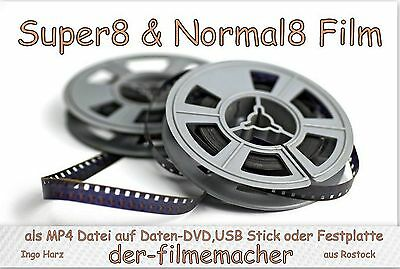 10 x 15m Super 8 Film Abtastung als mp4 Datei, Super8, Schmalfilm, Filmtransfer