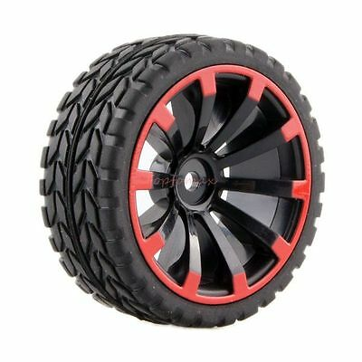 HSP HPI 601A-6017 Rubber Racing Tire Tyre Wheel Rim 4P For RC 1/10 On-Road Car