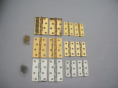 Solid Brass Double Washered Door Cabinet Cupboard Butt Hinges