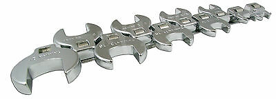 10PC 3/8 DRIVE CROWFOOT WRENCH SET with Holder- SAE