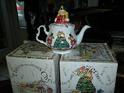 New MIB Paul Cardew Alice's Christmas Tea Party Tea Pot 150th Anniversary