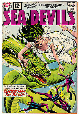 Sea Devils #3 6.0 Cream To Off-White Pages Silver Age