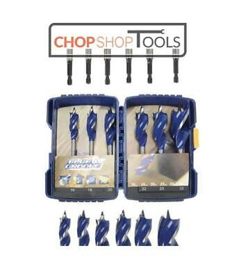 Irwin 10506628 Blue Groove Auger Wood Drill Bit 6 Piece Set 6 x Faster Cutting
