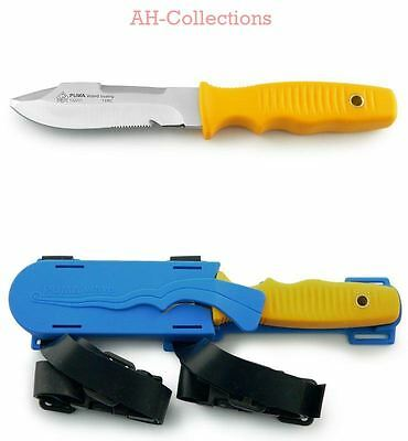 PUMA Taucher Messer tec wave boating Kunststoff-Beinholster diving knife 132221