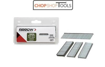 "1000 x Arrow Brad Nails 5/8"" 15mm 18 Gauge T50,ET100,ET200,ETF50 BN1810"