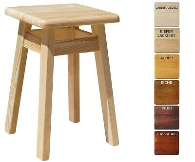 Schemel Kiefer Holz Hocker