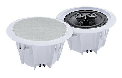 "e-audio Domestic & Commercial Use 5.25"" 2 Way Ceiling Speakers (8 Ohms 80W) PAIR"