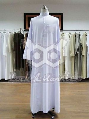 Man Boy Saudi Thobe Robe Islamic Muslim Jubba Arabic Kaftan Abaya Jelbab Dress
