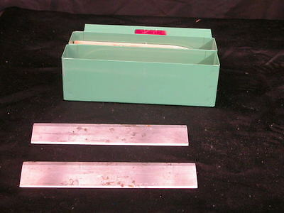 Lot of 2 Lipshaw  Microtome Knife Blade 185mm L x 31  mm H Green Box # 2