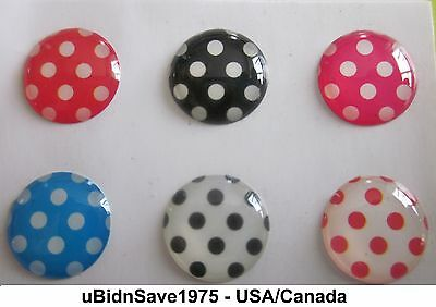 Orange Blue Black White Pink Dots Home Button Stickers iPhone iPad Air Mini iPod