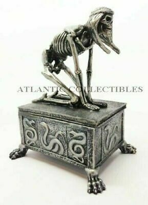 Ancient Egyptian Decorative Queen Nefertiti Skeleton Jewelry Trinket Box Figure