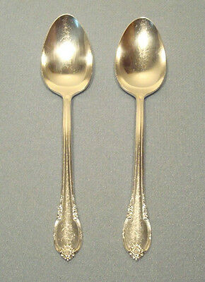 2 Silverplate Large SERVING SPOONS ~ REMEMBRANCE 1847 Rogers Brothers IS