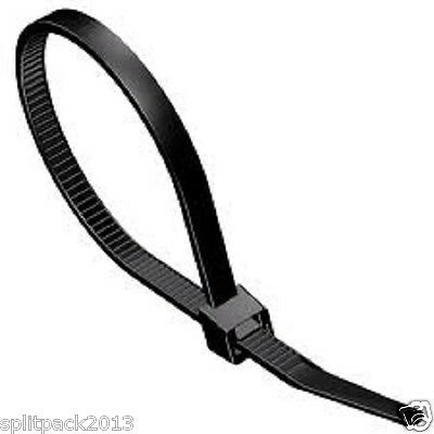 Large Heavy Duty Nylon Cable Ties, 370mm long and 7.6mm wide, in Black or White