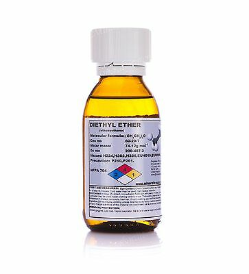 100ml Diethyl Ether•Ethyl Eter 99.9%+•high quality product•