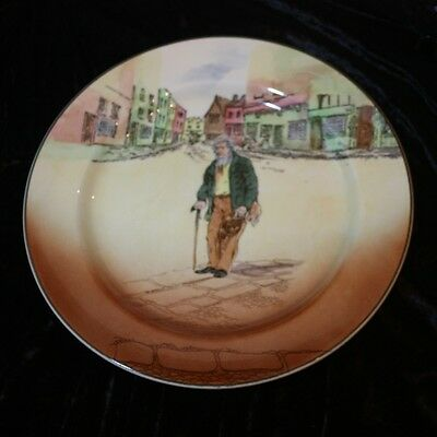 Royal Doulton dickens-ware Old Peggoty Dinner Plate Antique Vintage 30's D5175