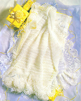 "Delicate Lacy Baby Shawl 2 ply~ 50"" square ~ Knitting Pattern"