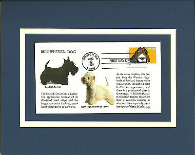 Scottish West Highland Terriers Commentary 1st Day Cover Bright Eyes Dog Stamp