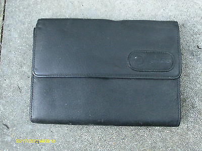 Saab Black Leather Wallet For Vehicle Documents Etc