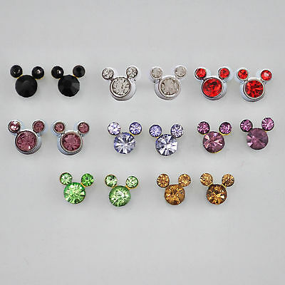 Mouse Outline Magnet Stud Earrings - Magnetic Mens Womens Mickey Minnie - NEW