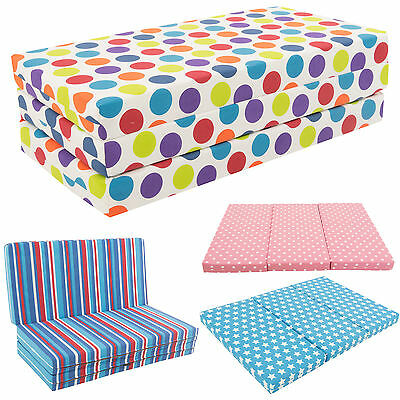 Gilda Kids Folding Sofa Bed Futon Guest Z bed Chair Folding Sofabed Childrens