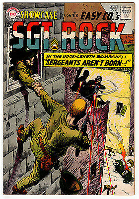 Showcase #45 5.0 Off-White Pages Silver Age Sgt Rock