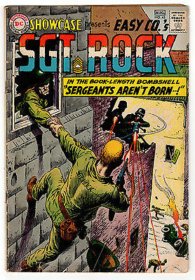 Showcase #45 2.5 Off-White Pages Silver Age Sgt Rock